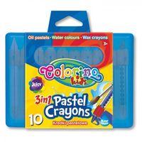 Kredki, Kredki pastelowe Colorino 3 w 1 10 kolorów