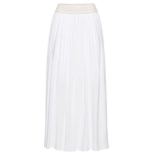 Suknie i sukienki, Długa sukienka bonprix biały