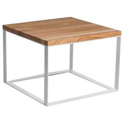 Stolik Square 60x60 cm płaskie białe nogi 4 cm (naturalna czereśnia) D2