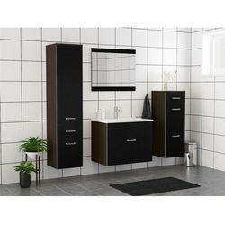 Zestaw NASSA – meble łazienkowe – lakier w kolorze czarnym