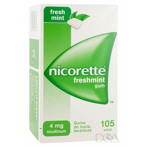 Gumy nikotynowe, Nicorette Freshmint Gum, guma do żucia, 4 mg, 105 szt