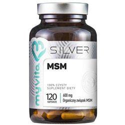 MSM, Siarka Organiczna, MyVita SILVER PURE, 120 kapsułek