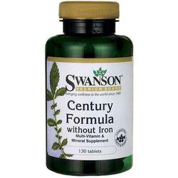 Multiwitamina bez żelaza Century Formula without Iron 130 tabletek SWANSON