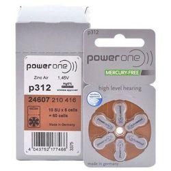 120 x baterie do aparatów słuchowych Power One Varta 312 MF