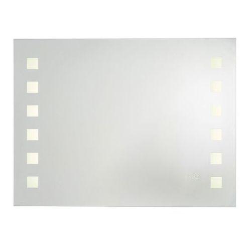 Lustra łazienkowe, Lustro prostokątne Cooke&Lewis Rozel 60 x 80 cm z oświetleniem, zegarem i bluetooth