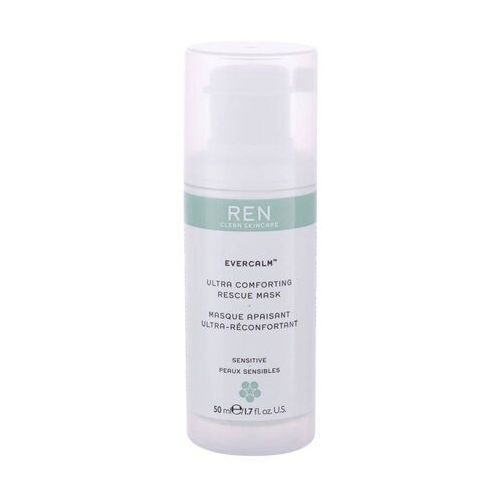 Maseczki do twarzy, Ren Clean Skincare Evercalm Ultra Comforting Rescue maseczka do twarzy 50 ml dla kobiet