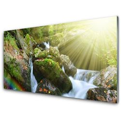 Panel Szklany Wodospad Tęcza Natura Potok
