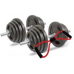 Hantle żeliwne kierownice zestaw 2x25 kg Tytan Sport 50 kg + Ekspander