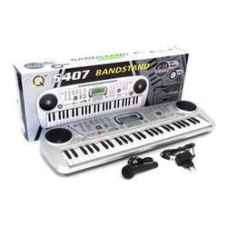 Organy/Keyboard Elektroniczny + Mikrofon + Ekran LCD + Zasilacz 230V...