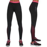 Pozostała odzież sportowa, Damskie sportowe legginsy BAS BLACK Inspire, Czarno-różowy, L
