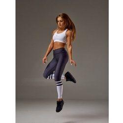 Legginsy OLIMP Women's Legins HIGH SOCK Black&White, Rozmiar: XS Najlepszy produkt Najlepszy produkt tylko u nas!