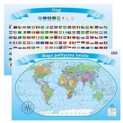 Podkładka na biurko + pisak dwustronna mapa polityczna świata