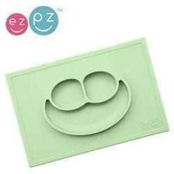 EZPZ - Silikonowy talerzyk z podkładką 2w1 Happy Mat - pastelowa zieleń