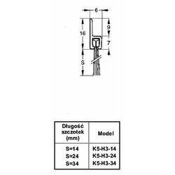 Listwa progowa STRIBO H3-24 1 mb