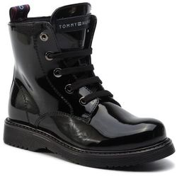 Kozaki TOMMY HILFIGER - Lace-Up Bootie T4A5-30445-0765 M Black 999