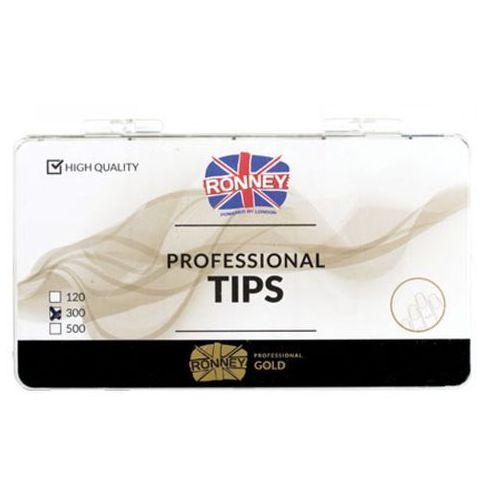Tipsy, Ronney PROFESSIONAL TIPS STANDARD TRANSPARENT Tipsy standardowe z dużą kieszonką, bezbarwne (300 szt.)