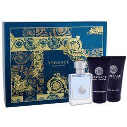 Versace Pour Homme M Zestaw perfum Edt 50ml + 50ml Żel pod prysznic + 50ml Balsam po goleniu