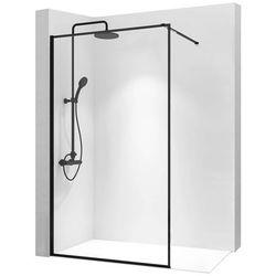 Ścianka prysznicowa 90 cm z czarnym profilem Bler Rea