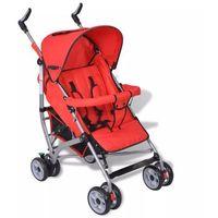 Wózki spacerowe, vidaXL Wózek spacerowy dziecięcy, składany, 5 pozycji, czerwony Darmowa wysyłka i zwroty