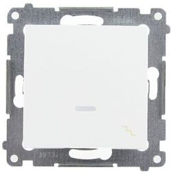 Łącznik schodowy Simon 54 DW6L.01/11 z podświetleniem LED biały Kontakt-Simon