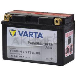 Akumulator VARTA Powersports AGM YT9B-BS 12V 8Ah 115A lewy+