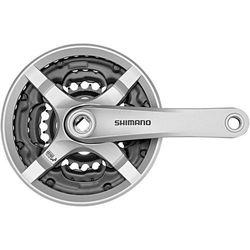 Shimano FC-TY501 Korba 6/7/8 rz. 42-34-24 zębów z tarczą ochronną srebrny 170 mm 2018 Korby