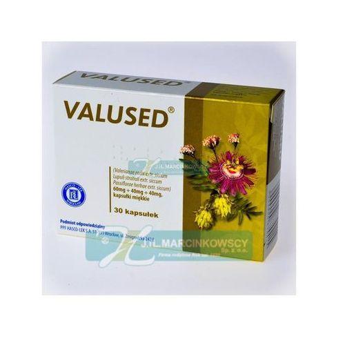 Leki uspokajające, Valused kaps.elast. 0,06g+0,04g+0,04g 30 kaps. (blist.)