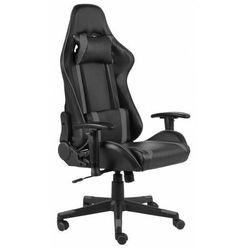 Czarno-szare krzesło obrotowe do grania - Libar
