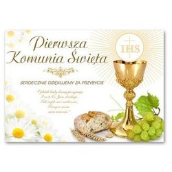 Plakat komunijny - I Komunia Święta IHS - 68 x 48 cm - 1 szt.