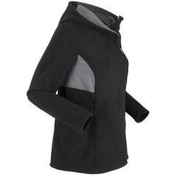 Bluza rozpinana z polaru, z siatkową wstawką, długi rękaw bonprix czarno-dymny szary