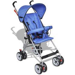 vidaXL Wózek spacerowy dla dziecka niebieski Darmowa wysyłka i zwroty