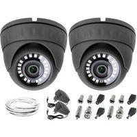 Zestawy monitoringowe, Monitoring sklepu zaplecza 2xKamera LV-AL25HD, Zasilacze, Przewódy, Akcesoria