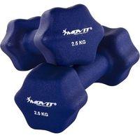 Hantle, MOVIT® ZESTAW 2x HANTLE NEOPRENOWE 2,5 KG CIĘŻARKI - 2x 2,5kg niebieski