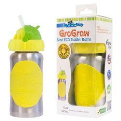 PACIFIC BABY Butelka ze słomką GroGrow - 380 ml - Srebrno żółta - BEZPŁATNY ODBIÓR: WROCŁAW!