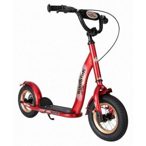 """Hulajnogi, Hulajnoga dla dzieci pompowane koła 10"""" BikeStar kolor czerwony"""