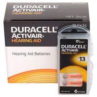 Baterie, 60 x baterie do aparatów słuchowych Duracell ActivAir 13 MF