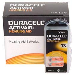 60 x baterie do aparatów słuchowych Duracell ActivAir 13 MF