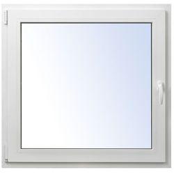 Okno PCV rozwierno-uchylne 1065 x 1035 mm lewe białe