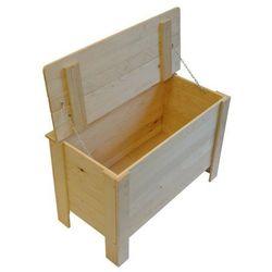 Skrzynia drewniana z klapą