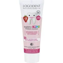 Logona Happy Kids żel truskawkowy do zębów dla dzieci 50ml