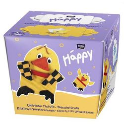 Chusteczki uniwersalne dwuwarstwowe Happy Kurczak 80 szt.
