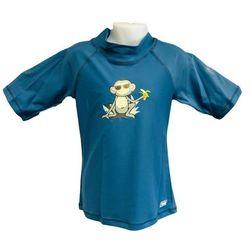 Koszulka kąpielowa bluzka dzieci 108cm filtrem UV50+ - Petrol Jungle \ 108cm