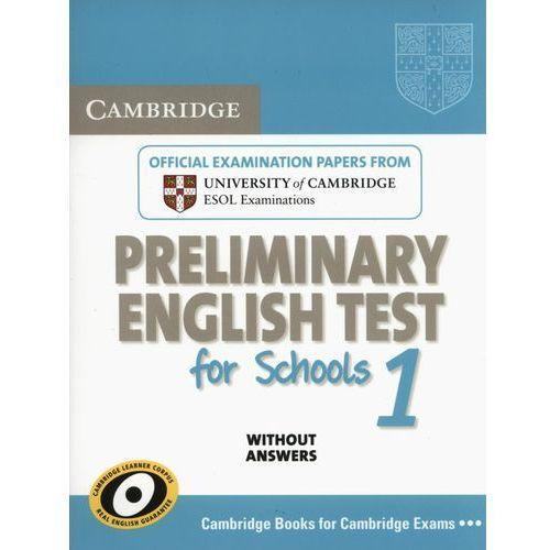 Książki do nauki języka, Cambridge PET for Schools 1 Student's Book (podręcznik) without Answers (opr. miękka)
