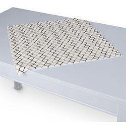 Dekoria Serweta 60x60 cm, szaro-czarne fale na białym tle, 60 x 60 cm, Geometric