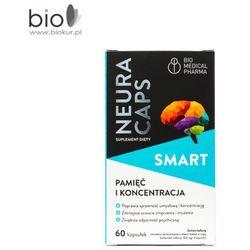 NeuraCaps SMART 60 kapsułek - suplement diety, wspomaga pamięć i koncentracje