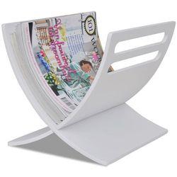 vidaXL Biały stojak na gazety Darmowa wysyłka i zwroty