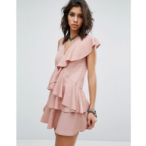Suknie i sukienki, Religion Dress In All Over Ruffles - Pink