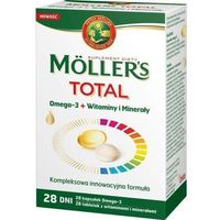 Witaminy i minerały, Moller's TOTAL Omega-3 (28 kapsułek) + Witaminy i minerały (28 tabletek)