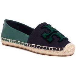 Espadryle TORY BURCH - Ines Fil Coupe Espadrille 64120 Perfect Navy/Malachite 426