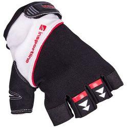 Rękawice do ćwiczeń fitness na siłownie inSPORTline Harjot, Czarno-biały, L